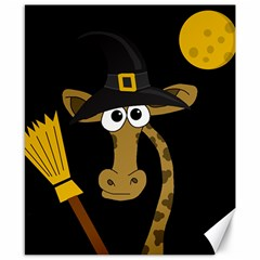 Halloween Giraffe Witch Canvas 8  X 10  by Valentinaart