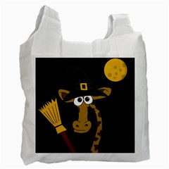 Halloween Giraffe Witch Recycle Bag (two Side)  by Valentinaart