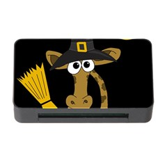 Halloween giraffe witch Memory Card Reader with CF by Valentinaart