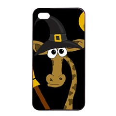 Halloween Giraffe Witch Apple Iphone 4/4s Seamless Case (black) by Valentinaart