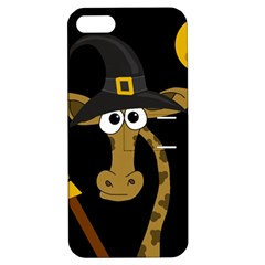 Halloween Giraffe Witch Apple Iphone 5 Hardshell Case With Stand by Valentinaart