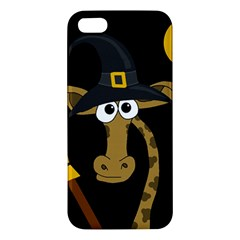 Halloween Giraffe Witch Iphone 5s/ Se Premium Hardshell Case by Valentinaart