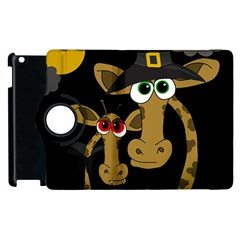 Giraffe Halloween Party Apple Ipad 2 Flip 360 Case by Valentinaart