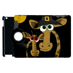 Giraffe Halloween Party Apple Ipad 3/4 Flip 360 Case by Valentinaart