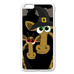 Giraffe Halloween Party Apple Iphone 6 Plus/6s Plus Enamel White Case by Valentinaart