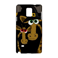 Giraffe Halloween Party Samsung Galaxy Note 4 Hardshell Case by Valentinaart