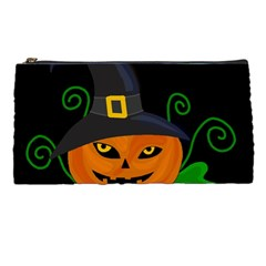 Halloween Witch Pumpkin Pencil Cases by Valentinaart
