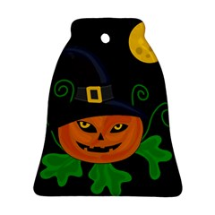 Halloween Witch Pumpkin Bell Ornament (2 Sides) by Valentinaart