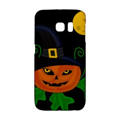 Halloween Witch Pumpkin Galaxy S6 Edge by Valentinaart