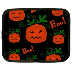 Halloween Pumpkin Pattern Netbook Case (xl)  by Valentinaart