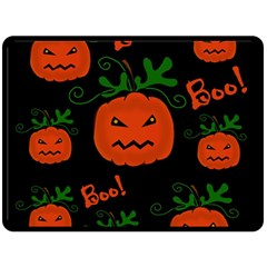 Halloween Pumpkin Pattern Fleece Blanket (large)  by Valentinaart