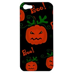 Halloween Pumpkin Pattern Apple Iphone 5 Hardshell Case by Valentinaart