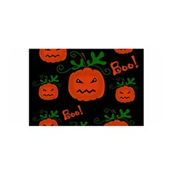 Halloween Pumpkin Pattern Satin Wrap by Valentinaart