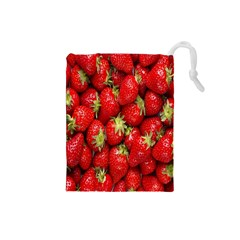 Red Fruits Drawstring Pouches (small)  by AnjaniArt