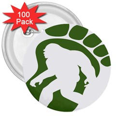 Sasquatch 3  Buttons (100 Pack)