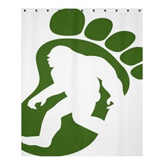 Sasquatch Shower Curtain 60  X 72  (medium)  by AnjaniArt
