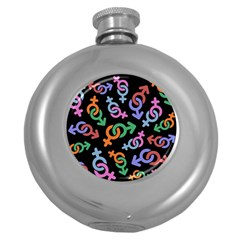 Sexsymbol Round Hip Flask (5 Oz) by AnjaniArt