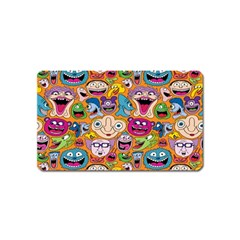 Smiley Pattern Magnet (name Card)