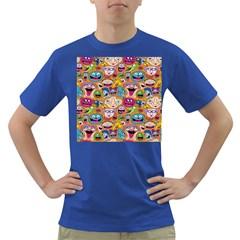Smiley Pattern Dark T Shirt