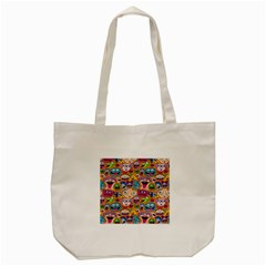 Smiley Pattern Tote Bag (cream)