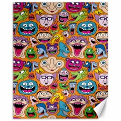 Smiley Pattern Canvas 11  X 14   by AnjaniArt