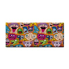 Smiley Pattern Hand Towel by AnjaniArt