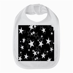 Star Black White Bib