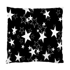 Star Black White Standard Cushion Case (two Sides) by AnjaniArt