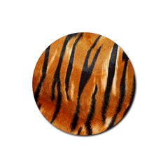 Tiger Rubber Round Coaster (4 Pack)  by AnjaniArt