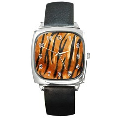 Tiger Square Metal Watch by AnjaniArt