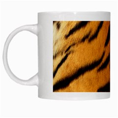 Tiger Skin White Mugs