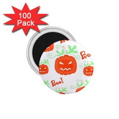 Halloween Pumpkins Pattern 1 75  Magnets (100 Pack)  by Valentinaart