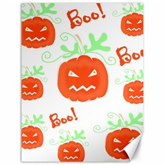Halloween Pumpkins Pattern Canvas 18  X 24   by Valentinaart