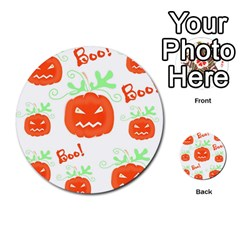 Halloween Pumpkins Pattern Multi Purpose Cards (round)  by Valentinaart