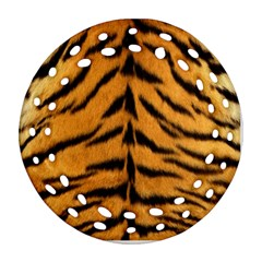 Tiger Skin Round Filigree Ornament (2side) by AnjaniArt