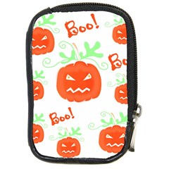 Halloween pumpkins pattern Compact Camera Cases by Valentinaart