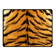 Tiger Skin Double Sided Fleece Blanket (Small)  by AnjaniArt