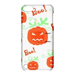 Halloween Pumpkins Pattern Apple Ipod Touch 5 Hardshell Case With Stand by Valentinaart