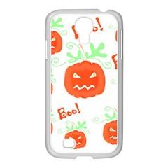 Halloween Pumpkins Pattern Samsung Galaxy S4 I9500/ I9505 Case (white) by Valentinaart