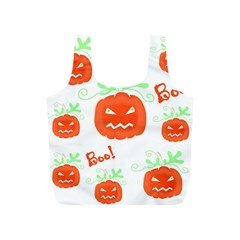 Halloween Pumpkins Pattern Full Print Recycle Bags (s)  by Valentinaart