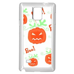 Halloween Pumpkins Pattern Samsung Galaxy Note 4 Case (white) by Valentinaart