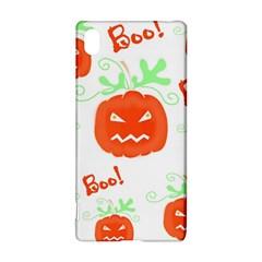 Halloween Pumpkins Pattern Sony Xperia Z3+ by Valentinaart