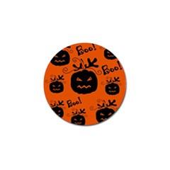 Halloween Black Pumpkins Pattern Golf Ball Marker (4 Pack) by Valentinaart