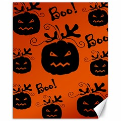 Halloween Black Pumpkins Pattern Canvas 16  X 20   by Valentinaart