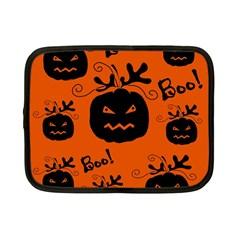 Halloween Black Pumpkins Pattern Netbook Case (small)  by Valentinaart