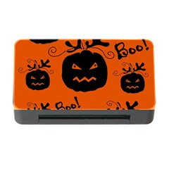 Halloween Black Pumpkins Pattern Memory Card Reader With Cf by Valentinaart