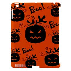 Halloween Black Pumpkins Pattern Apple Ipad 3/4 Hardshell Case (compatible With Smart Cover) by Valentinaart