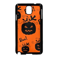 Halloween Black Pumpkins Pattern Samsung Galaxy Note 3 Neo Hardshell Case (black) by Valentinaart