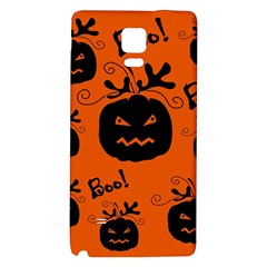 Halloween Black Pumpkins Pattern Galaxy Note 4 Back Case by Valentinaart
