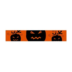 Halloween Black Pumpkins Pattern Flano Scarf (mini) by Valentinaart